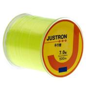 Mimgo Yellow Fishing Line, 500M Monofilament Lake Sea Nylon Lines Tackles - 0.435mm