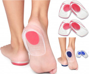 Cushion Insole Support Silicone Gel Heel Pad Foot Cup for Ankle Paid Heel | Spur Back Pain, | Tendinitis & Plantar Fasciitis | Massage | Shock Absorbent | Pain Relief