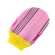 Soft Exfoliating Mitts Shower Bath Body Scrubber Loofah Mitt Gloves, D