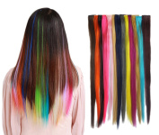 Smilco 24 Pcs 60cm Straight Coloured Hair Extensions Clip in Hair Extensions Include 24 Different Multiple Colours Smilco