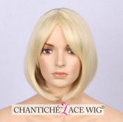 Chantiche Short Blonde Wig, Glueless Blonde Bob Wig, Natural Straight Cheap Synthetic Wigs for Women Full Machine Made Heat Resistant