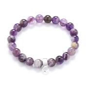 Authentic Amethyst Gemstone Charm Bracelet in Gift Box