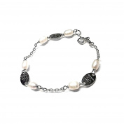 925m silver bracelet First Communion Act cultured pearls [AB1026]