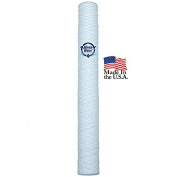 String Wound Water Sediment Filter Cartridge 5 Micron 6.4cm x 50cm by KleenWater