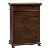Jofran Geneva Hills 5 Drawer Chest in Rustic Brown