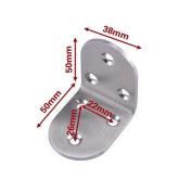 Zehui 1PCS Stainless Steel Shelf Support 90 Degree Right Angle Bracket Corner Brace Joint Fastener 50X38X3.0mm