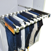 Stainless Steel Pull-Out Pants Rack with Full-Extension Slides