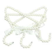 Jieteenager 3Pcs Fashion Pearl Bow Clothes Hangers For Kids/Children