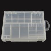 Honbay Transparent Battery Organiser, Hard Plastic Battery Storage Case/Box/Organiser/Holder for AA AAA C D 9V Battery