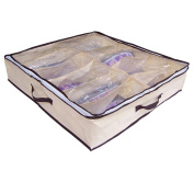 Hometom Portable Non Woven Bamboo Charcoal Fibre Storage Box For Shoes Home