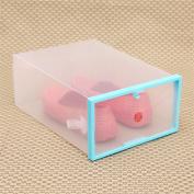 Hometom Shoe Box Foldable Stackable Clear Plastic Drawer Case Organiser Box Holder