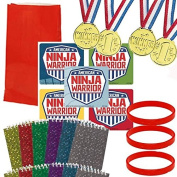 American Ninja Warrior Party Favour Set - 12 Guests