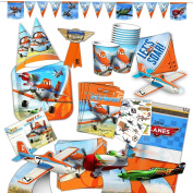 Disney Planes Party Supplies Ultimate Set -- Birthday Party Decorations, Party Favours, Plates, Cups, Napkins, Table Cover and More!