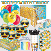 Emoji Birthday Party Supplies and Decorations - Plates, Cups, Napkins, Banner, Balloons, and More