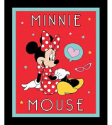 Minnie Mouse Cotton Fabric Panel (Great for Quilting, Sewing, Craft Projects, a Child's Quilt & More) 110cm x 90cm Wide