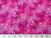 Tropical Paradise Fuchsia Floral Design Spectrix Fabric