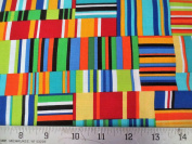 Colorworks Concepts Colourful Stripes Northcott Cotton Fabric 21563-44