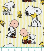"1 Yard - Peanuts ""Snoopy Stripe"" Cotton Fabric - Officially Licenced (Great for Quilting, Sewing, Craft Projects, Throw Pillows & More) 1 Yard x 110cm"