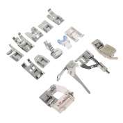 Durable 15Pcs Foot Feet Domestic Sewing Machine For Janome, Toyota, Brother etc.