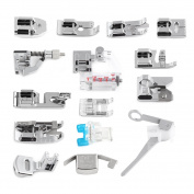 15Pcs/Set Domestic Sewing Machine Presser Foot Kit 15 Kinds Presser feet Multifunction Sewing Accessories with Storage Box