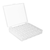 AOZBZ 25pcs Transparent Plastic Sewing Machine Bobbins with Storage Case for Brother/ Babylock/ Janome/ Kenmore/ Singer