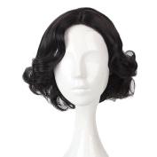 Fashion Black Short 41cm Curly Lolita Lady Cosplay Wig Heat Resistant