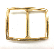 Belt Buckle for women- Plated Gold Polished 1.1.9cm inch square Buc3