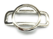 Silver Nickle Circle / Rectangle Buckles,Silver Plated , 7.6cm X 5.1cm