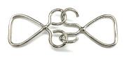 Antique Silver Wire Style Buckles, , 2 Part .7.6cm X 2.5cm - 0.6cm
