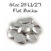 Cover Buttons - 1.3cm (SIZE 20) - FLAT BACKS - QTY 100