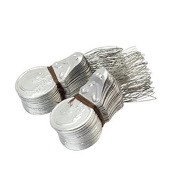 Freedi 100Pcs Bow Wire Needle Threader Stitch Silver Tone Wire Loop DIY Hand Sewing Craft Insertion Tool