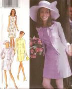 Style vintage sewing pattern 2809 jacket and dress - Size 8-18
