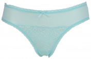 Ex Store Maternity Lace Trimmed Brazilian Knickers Mint
