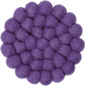 myfelt Professional Purple GU 012 009 Wilma Felt Ball Coaster, Virgin wool, 9 x 9 x 1.5 cm