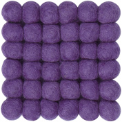 myfelt A GU Q/012 009 – 009 Wilma Felt Ball Coaster, Virgin wool, Purple, 9 x 9 x 1.5 cm