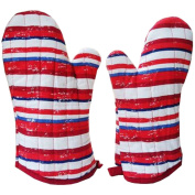 1 Pair Oven Gloves Non-Slip Kitchen Oven Mitts Heat Resistant Cooking Gloves,a