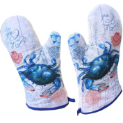 1 Pair Oven Gloves Non-Slip Kitchen Oven Mitts Heat Resistant Cooking Gloves,p