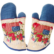 1 Pair Oven Gloves Non-Slip Kitchen Oven Mitts Heat Resistant Cooking Gloves,h