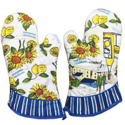 1 Pair Oven Gloves Non-Slip Kitchen Oven Mitts Heat Resistant Cooking Gloves,l