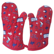 1 Pair Oven Gloves Non-Slip Kitchen Oven Mitts Heat Resistant Cooking Gloves,c