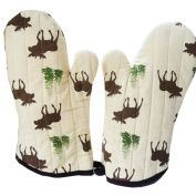 1 Pair Oven Gloves Non-Slip Kitchen Oven Mitts Heat Resistant Cooking Gloves,d