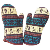 1 Pair Oven Gloves Non-Slip Kitchen Oven Mitts Heat Resistant Cooking Gloves,b
