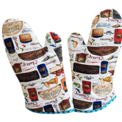 1 Pair Oven Gloves Non-Slip Kitchen Oven Mitts Heat Resistant Cooking Gloves,q