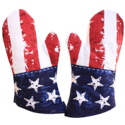 1 Pair Oven Gloves Non-Slip Kitchen Oven Mitts Heat Resistant Cooking Gloves,i