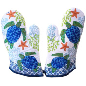 1 Pair Oven Gloves Non-Slip Kitchen Oven Mitts Heat Resistant Cooking Gloves,s