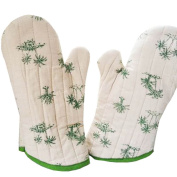 1 Pair Oven Gloves Non-Slip Kitchen Oven Mitts Heat Resistant Cooking Gloves,e