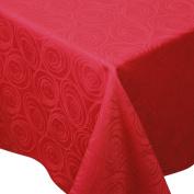 Spiral Red 100% Cotton Jacquard Tablecloth Rectangular 150 x 300 cm