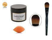 Leichner Camera Clear Tinted Foundation 30ml - CREME CARAMEL + LyDia® Black Foundation, Concealer Makeup Brush F-010 + FREE LyDia® Mini Beauty Sponge Blender