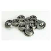 (10) 4x7x2.5mm Flanged Precision Stainless Steel Ball Bearing, Fishing Reels