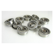 (10) 7x14x5mm Flanged Precision Stainless Steel Ball Bearing, Fishing Reels